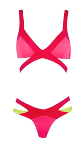 Agent Provocateur_Mazzy Red, Pink & Yellow Bikini
