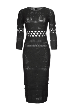 PERFORATED LONG DRESS_AED 1599