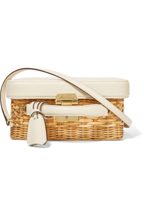 Mark Cross Grace Leather and Rattan Box Bag AED 6,750