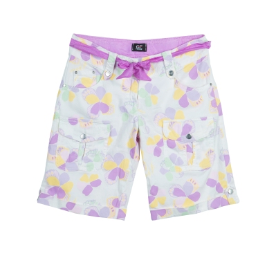 GF Ferre_ Floral Print Belted Bermuda Shorts_ 11 to12 Yrs_ AED 337