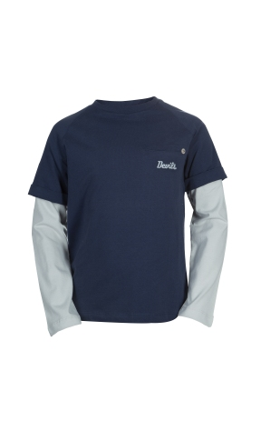 Roberto Cavalli Devils Navy Blue Double Slevve T-shirt(8Yrs)_AED 296
