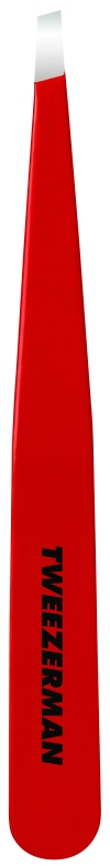 1230-RR Signature Red Slant Tweezer