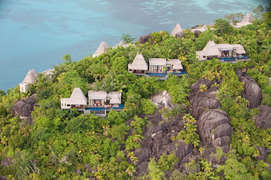 Maia Luxury Resort & Spa - Aerial Peninsula
