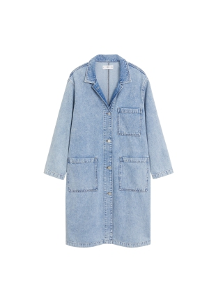 MANGO, Medium Wash Denim Jacket AED349