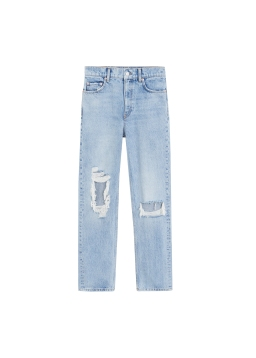 MANGO, Straight Fit Decorative Rips Jeans AED269