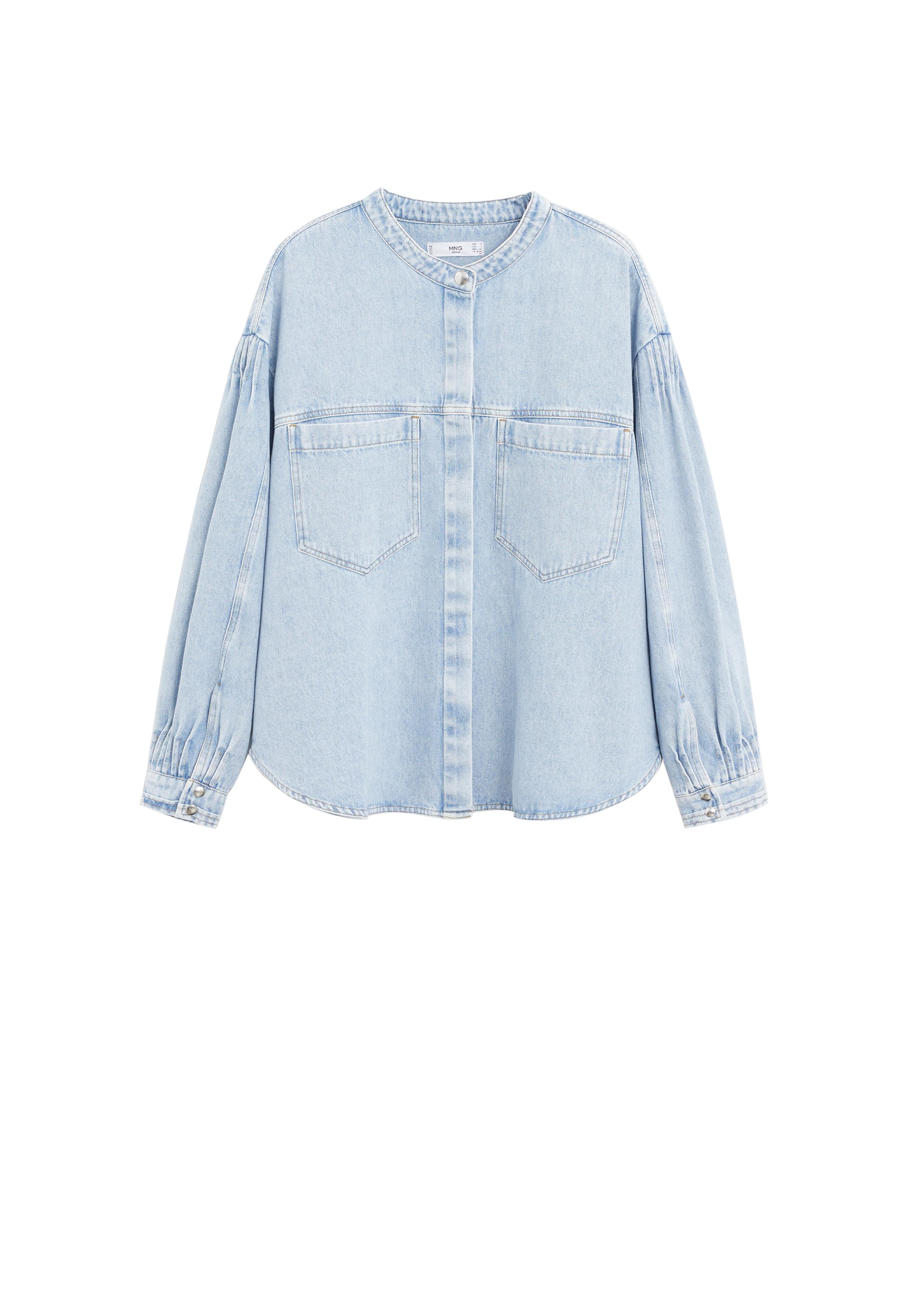 MANGO. Puffed Sleeves Denim ShirtAED269
