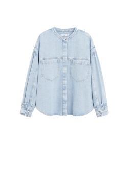 MANGO. Puffed Sleeves Denim Shirt AED269