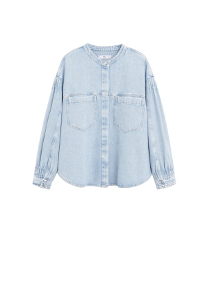 MANGO. Puffed Sleeves Denim Shirt AED269